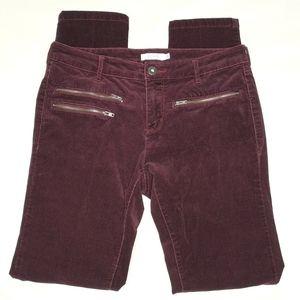 Ricki's Corduroy Slim Fit Zipper Detail Jean Cords